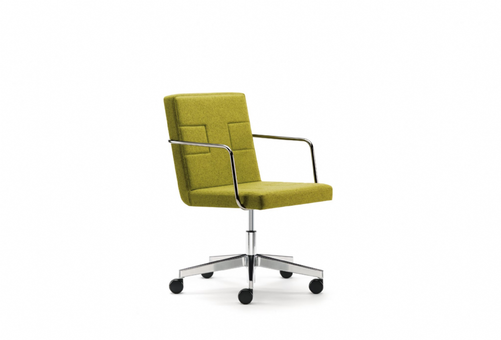 Pledge Tonic Upholstered Chair With Chrome Gas Lift And Swivel Mechanism